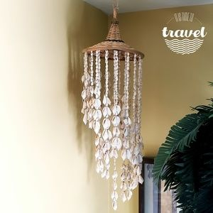 Other - 🐚White Seashell Wind Chime - Woven Wicker